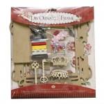 DIY Ornate Frame Kit by EnoGreeting (Big) - Vintage Flowers