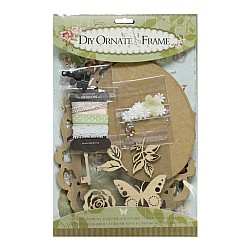 DIY Ornate Frame Kit by EnoGreeting (Small) - Vintage Flowers