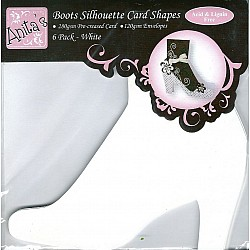 DoCrafts Boots Silhoutte Card Shapes - Set of 6 Pieces