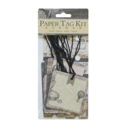 DIY Paper Tag Kit by EnoGreeting - Deep Style