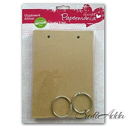 PaperMania Bare Basics Chipboard Album - Doorplate