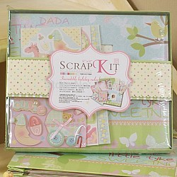 8 by 8 Scrapbook Kit by EnoGreeting - Baby