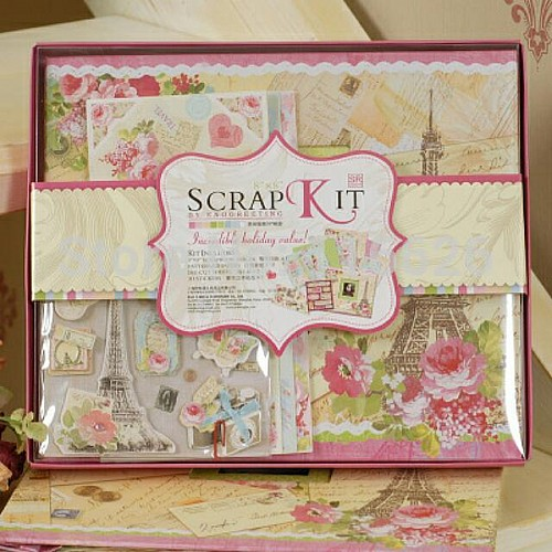 8 by 8 Scrapbook Kit by EnoGreeting - Our Memories