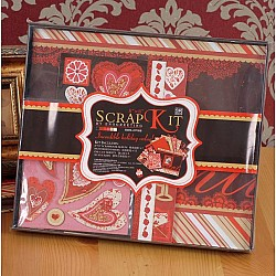 8 by 8 Scrapbook Kit by EnoGreeting - Valentine SR004
