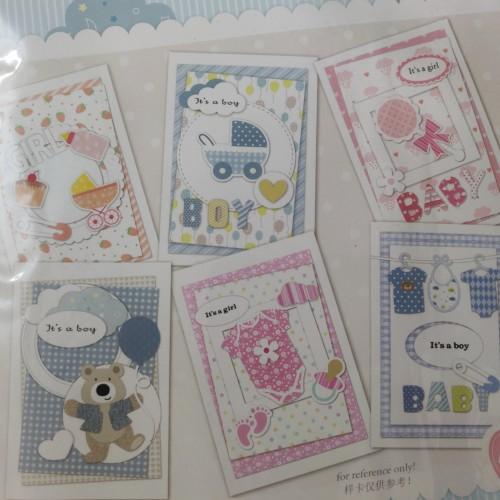 6 Cardmaking Kit by Enogreeting - Baby