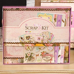 8 by 8 Scrapbook Kit by EnoGreeting - Flowers