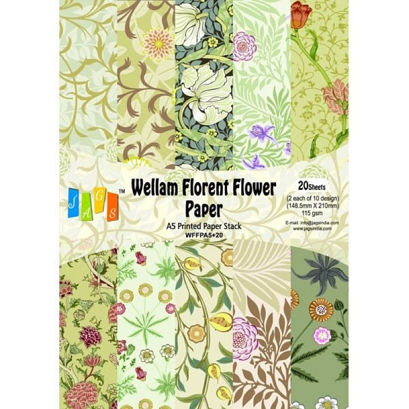 buy vellum paper a5 florent flower online in india at low prices