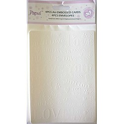 Papus Embossed A6 cards with Envelopes (Set of 4 Pieces) - Design 2