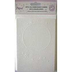 Papus Embossed A6 cards with Envelopes (Set of 4 Pieces) - Design 3