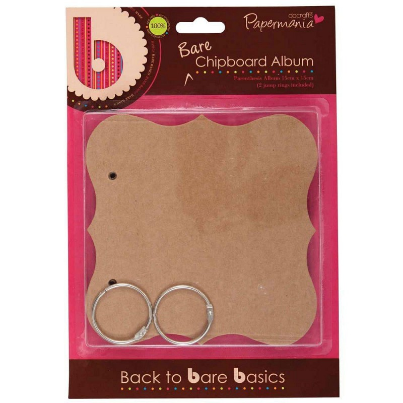 Buy papermania bare basics chipboard album parenthesis