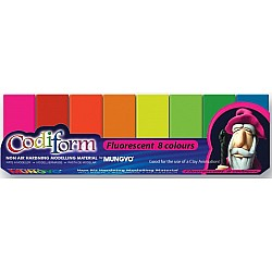 Codiform Non Air Hardening Fluorescent Clay (8 Fluorescent Colors)