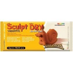 Mungyo Sculpt Dry - Terracotta Air Dry Clay (1kg)