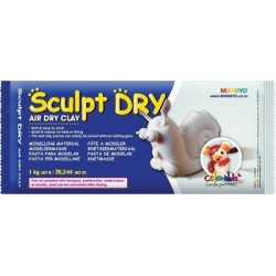 Mungyo Sculpt Dry - White Air Dry Clay (1kg)