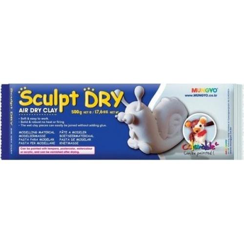 Mungyo Sculpt Dry - White Air Dry Clay (500gm)