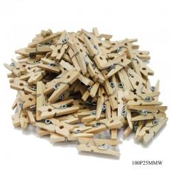 Mini Wooden Clips (100 pcs)