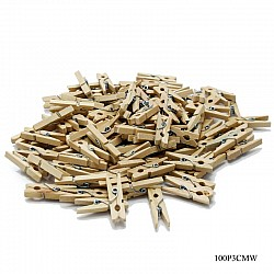 Small Wooden Clips (100 pcs)