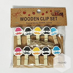 Assorted Wooden Clips - Funny Gentlemen
