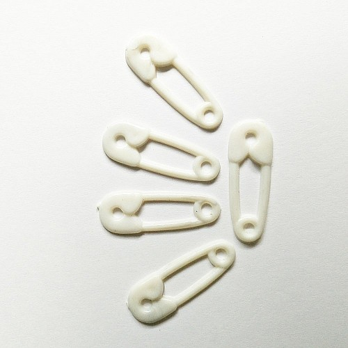 Baby Plastic Clips - White