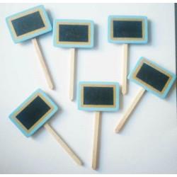 Wooden Plant Markers - Blue (Set of six pcs)
