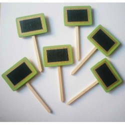 Wooden Plant Markers - Green (Set of six pcs)