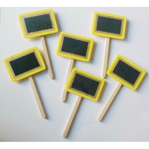 Wooden Plant Markers - Yellow (Set of six pcs)
