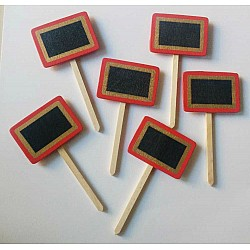 Wooden Plant Markers - Red (Set of six pcs)