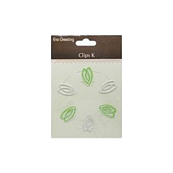 EnoGreeting Paper Clips - Long Heart