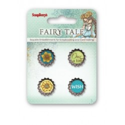 Scrapberry's Metal Cork Embellishment - Fairy Tale