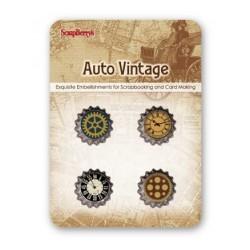 Scrapberry's Metal Cork Embellishment - Auto Vintage