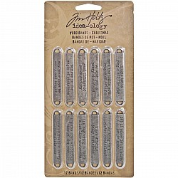 Tim Holtz ideaology Word Bands - Christmas
