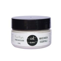 CrafTangles mixed media Essentials - Art Waxes - Sparkling Silver (50 ml)