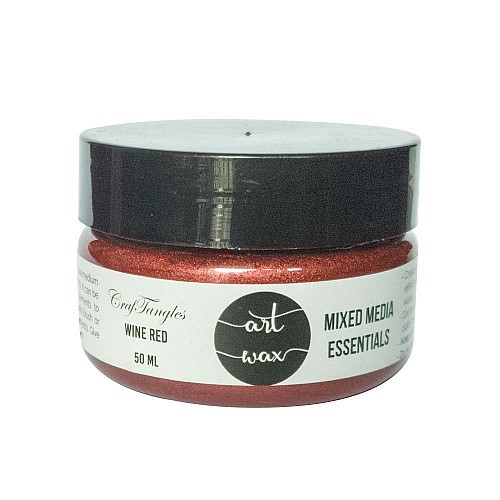 CrafTangles mixed media Essentials - Art Waxes - Wine Red (50 ml)