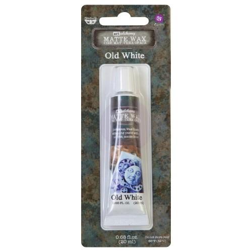 Prima Marketing Finnabair Art Alchemy Matte Wax .68 Fluid Ounce - Old White