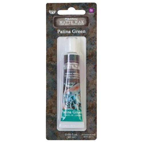 Prima Marketing Finnabair Art Alchemy Matte Wax .68 Fluid Ounce - Patina Green