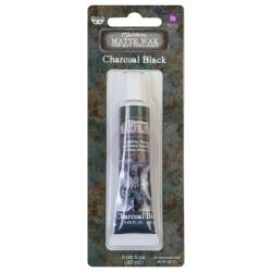 Prima Marketing Finnabair Art Alchemy Matte Wax .68 Fluid Ounce - Charcoal Black