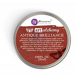 Prima Art Alchemy Antique Brilliance Wax .68 Fluid Ounce - Fire Ruby (By Finnabair)