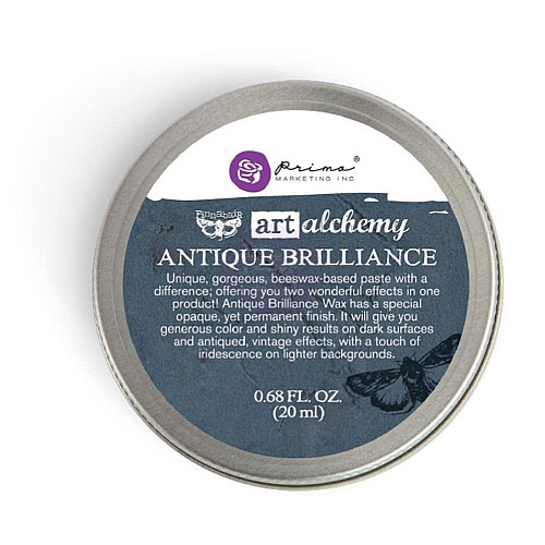 Prima Art Alchemy Antique Brilliance Wax .68 Fluid Ounce - Mystic Turquoise (By Finnabair)