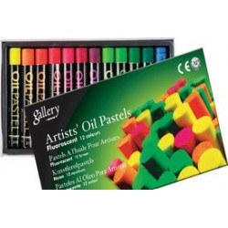 Mungyo Oil Pastel Crayon (12 assorted fluorescent colors)