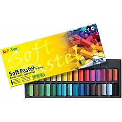 Mungyo Soft Pastel Half-Length Crayons (32 assorted colors)