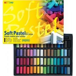 Mungyo Soft Pastel Half-Length Crayons (64 assorted colors)