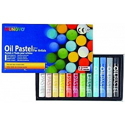 Mungyo Round Shaped Oil Pastel Crayon (12 Colors)