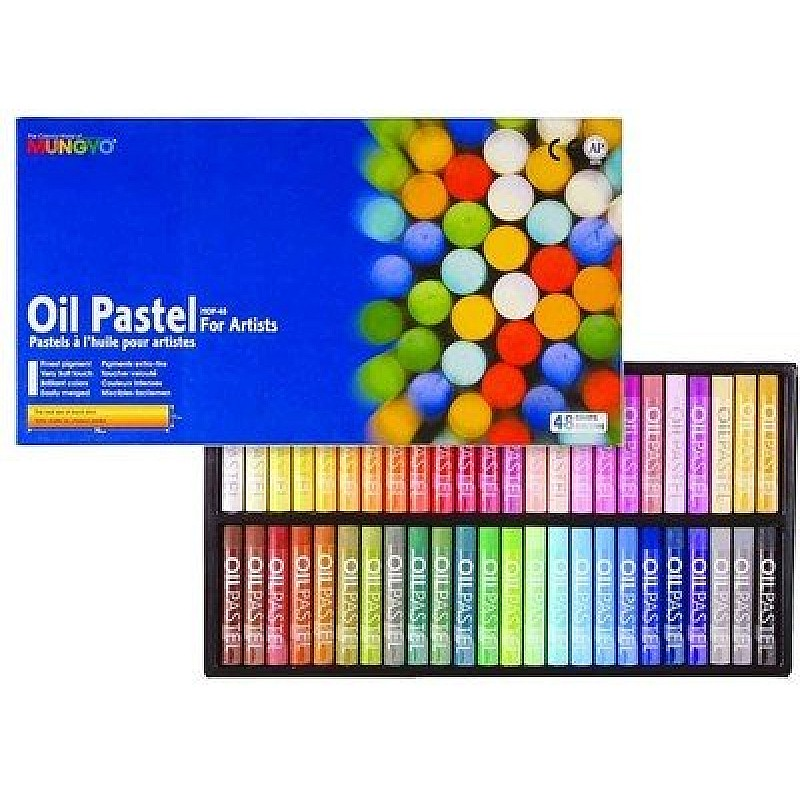 buy mungyo round shaped oil pastel crayon 48 colors