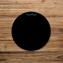 CrafTangles Black Acrylic Coasters (4 pcs) - Circle