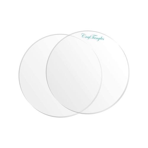 CrafTangles Clear Acrylic Coasters (4 pcs) - Circle