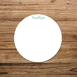CrafTangles White Acrylic Coasters (4 pcs) - Circle