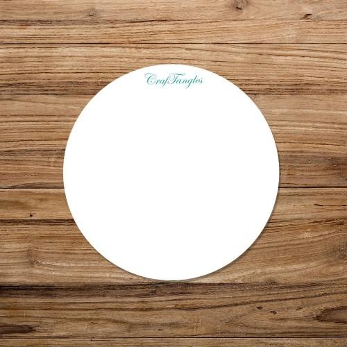 CrafTangles White Acrylic Coasters (4 pcs) - Circle