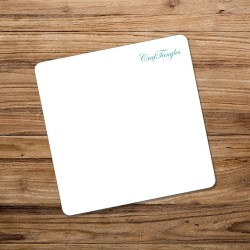 CrafTangles White Acrylic Coasters (4 pcs) - Rounded Squares
