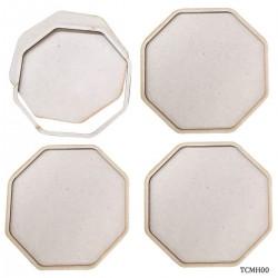Tea Coaster MDF Hexagon 4 Inch 4Pcs Set