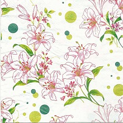 A pack of 12 by 12 inch Decoupage Napkins(5 pcs)  - Floral Design 2