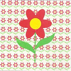A pack of 12 by 12 inch Decoupage Napkins(5 pcs)  - Floral Design 4